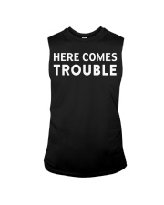 here comes trouble see what i mean Sleeveless Tee front