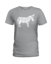 Life Is Better With Donkeys Ladies T-Shirt thumbnail