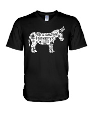 Life Is Better With Donkeys V-Neck T-Shirt thumbnail