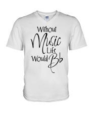 Music Life V-Neck T-Shirt thumbnail