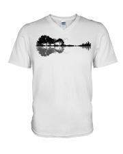 Nature Guitars V-Neck T-Shirt front