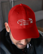 In Chage Of The Groove Bass Embroidered Hat garment-embroidery-hat-lifestyle-02