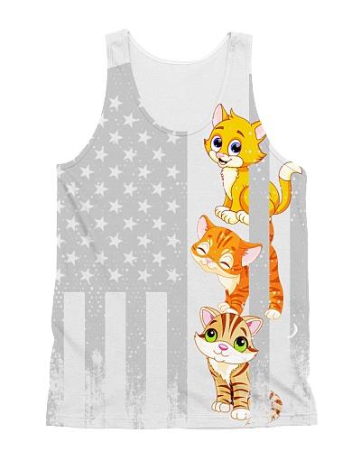 Cat USA Flag