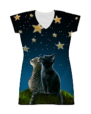 Cats On Night All-over Dress thumbnail