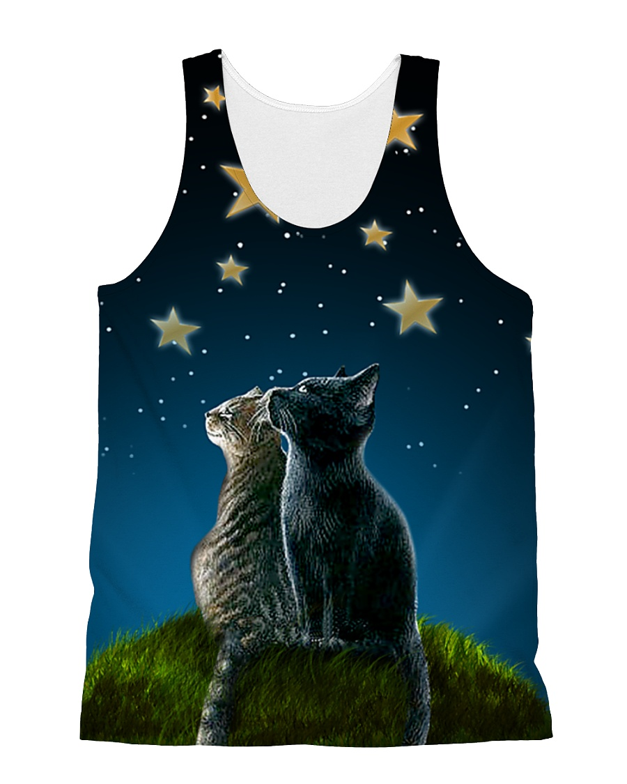 Cats On Night All-over Unisex Tank