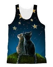 Cats On Night All-over Unisex Tank thumbnail