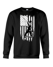Fishing USA Flag Crewneck Sweatshirt thumbnail