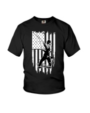 Fishing USA Flag Youth T-Shirt thumbnail