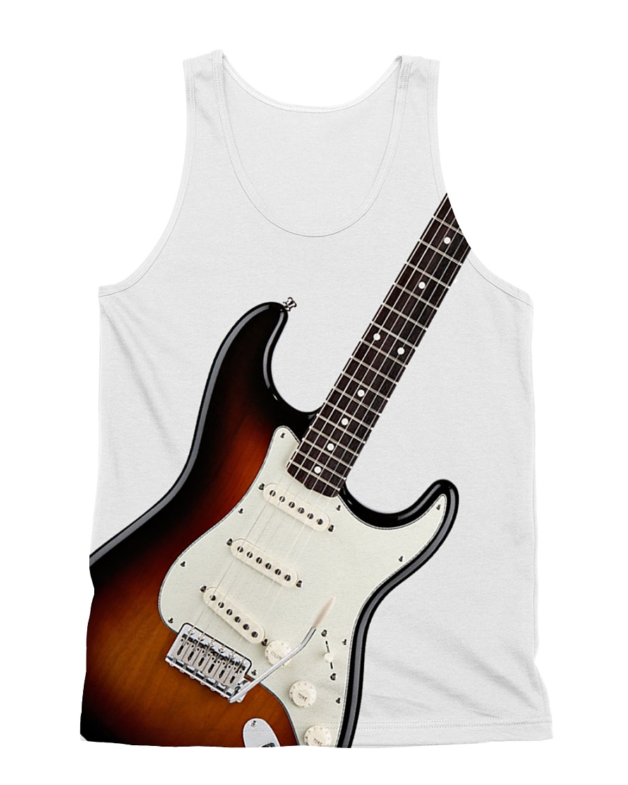 I Allway Play Guitar All-over Unisex Tank