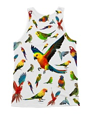Parrot Pattern Tank Top  All-over Unisex Tank back