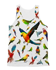 Parrot Pattern Tank Top  All-over Unisex Tank front