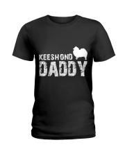 Keeshond Christmas Shirt Ladies T-Shirt thumbnail