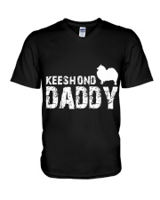 Keeshond Christmas Shirt V-Neck T-Shirt thumbnail