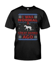 Great Dane Ugly Christmas Sweater Premium Fit Mens Tee thumbnail