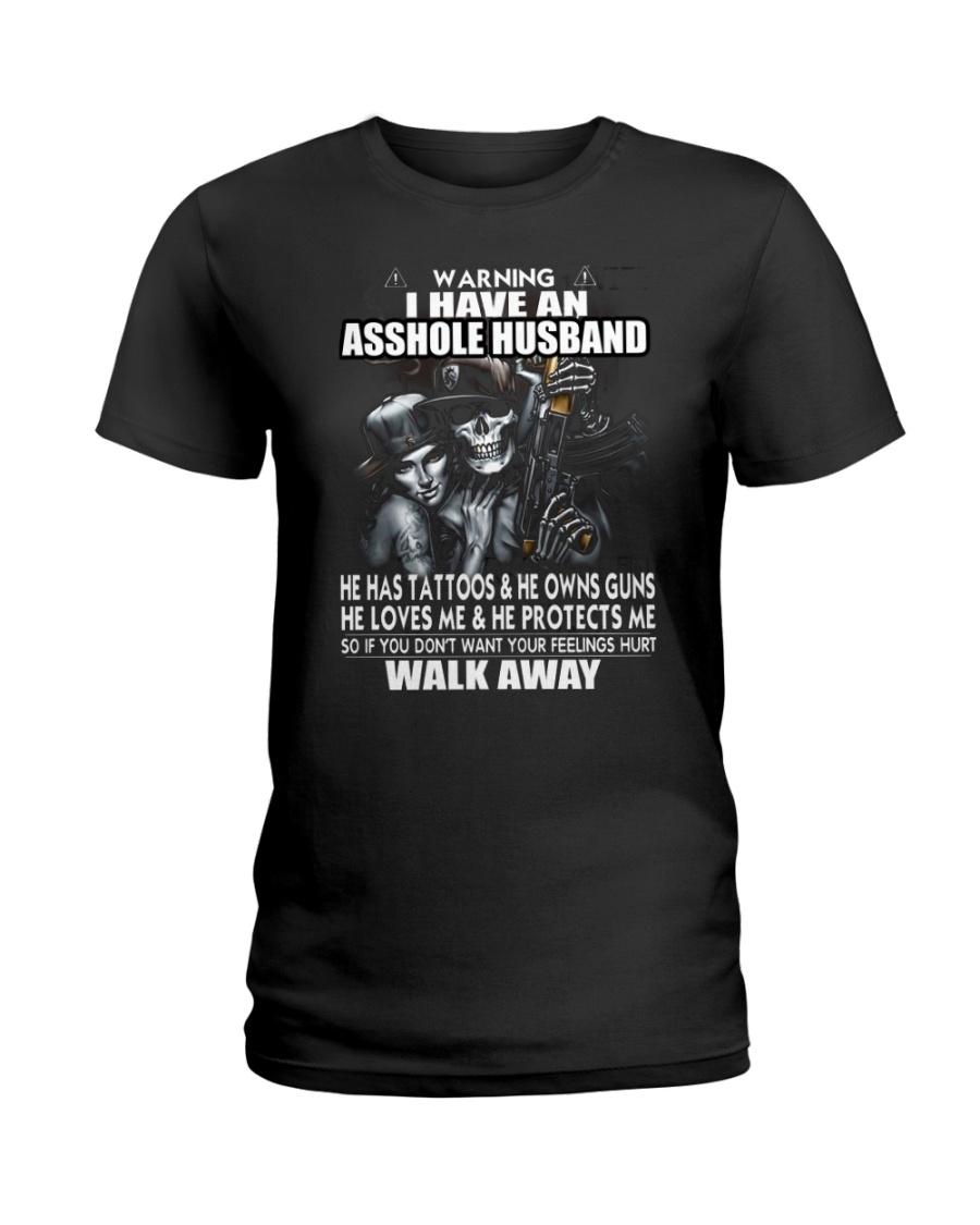 WARNING HUSBAND Ladies T-Shirt