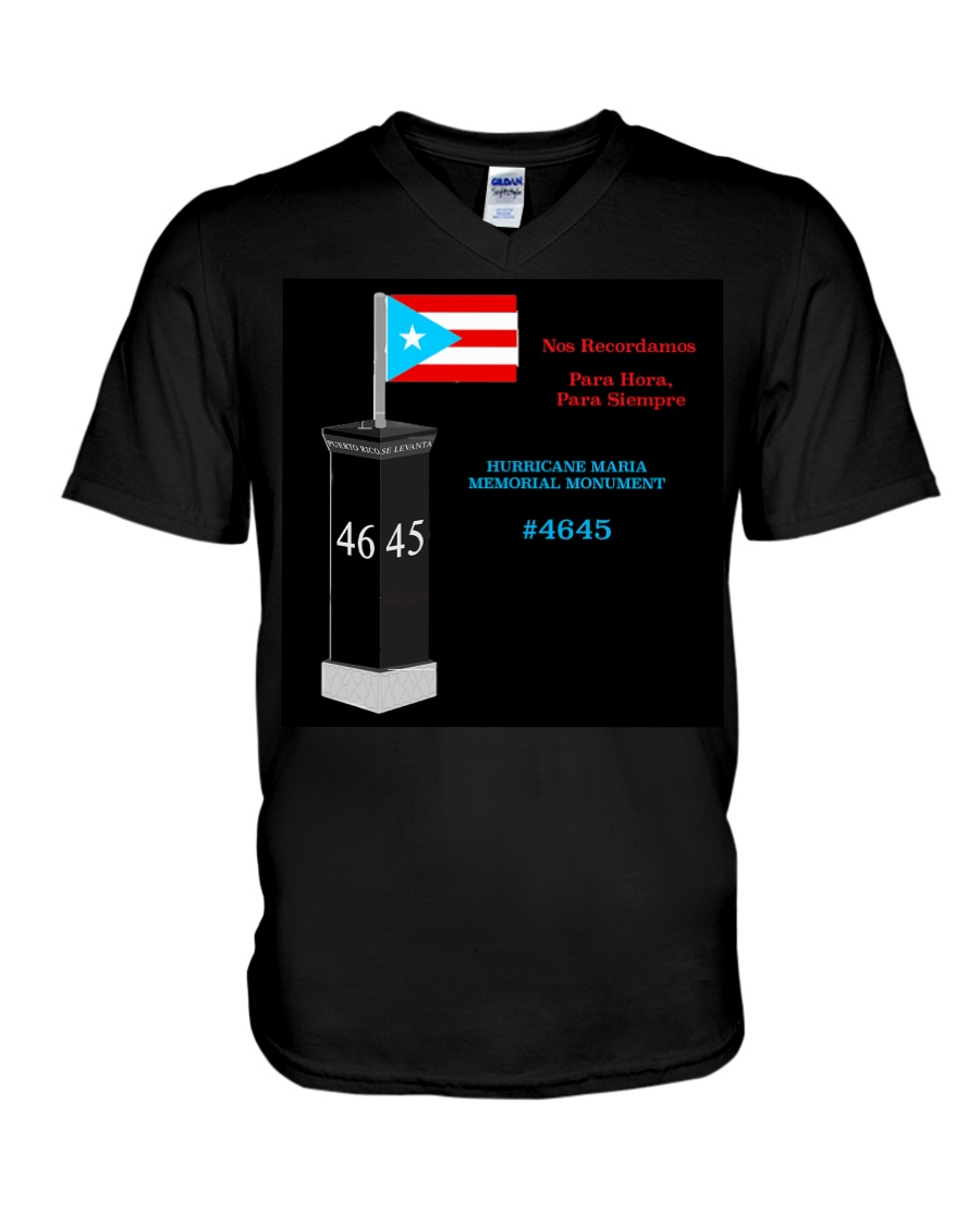 Hurricane Maria Memorial Monument V-Neck T-Shirt