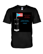 Hurricane Maria Memorial Monument V-Neck T-Shirt front