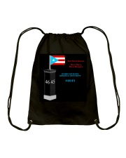Hurricane Maria Memorial Monument Drawstring Bag thumbnail