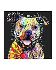 PITBULLS THEY WILL STEAL YOUR HEART Square Coaster thumbnail
