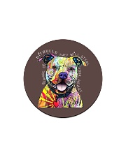 PITBULLS THEY WILL STEAL YOUR HEART Circle Magnet thumbnail