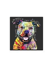 PITBULLS THEY WILL STEAL YOUR HEART Square Magnet thumbnail