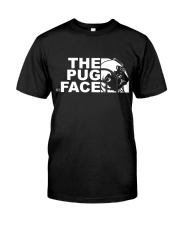 Funny The Pug Face Classic T-Shirt front