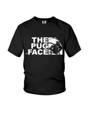 Funny The Pug Face Youth T-Shirt thumbnail