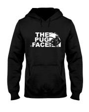 Funny The Pug Face Hooded Sweatshirt thumbnail