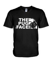 Funny The Pug Face V-Neck T-Shirt thumbnail