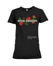 GOOD ENOUGH PULLOVER BLACK HOODIE Premium Fit Ladies Tee thumbnail