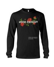 GOOD ENOUGH PULLOVER BLACK HOODIE Long Sleeve Tee tile