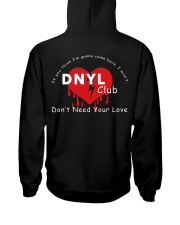 Don't need your love club Merch Hoodie Hooded Sweatshirt back
