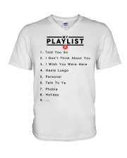 my playlist hoodie V-Neck T-Shirt thumbnail