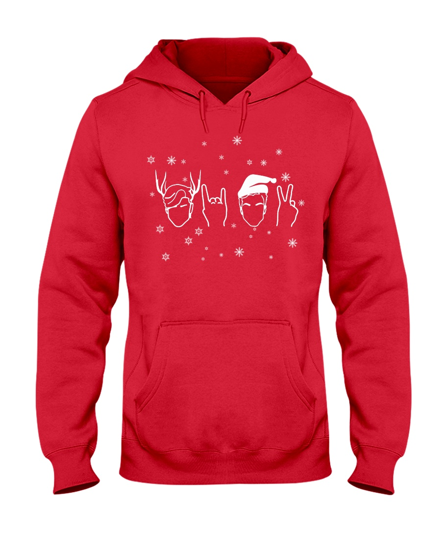twins holiday sweater hoodie Hooded Sweatshirt