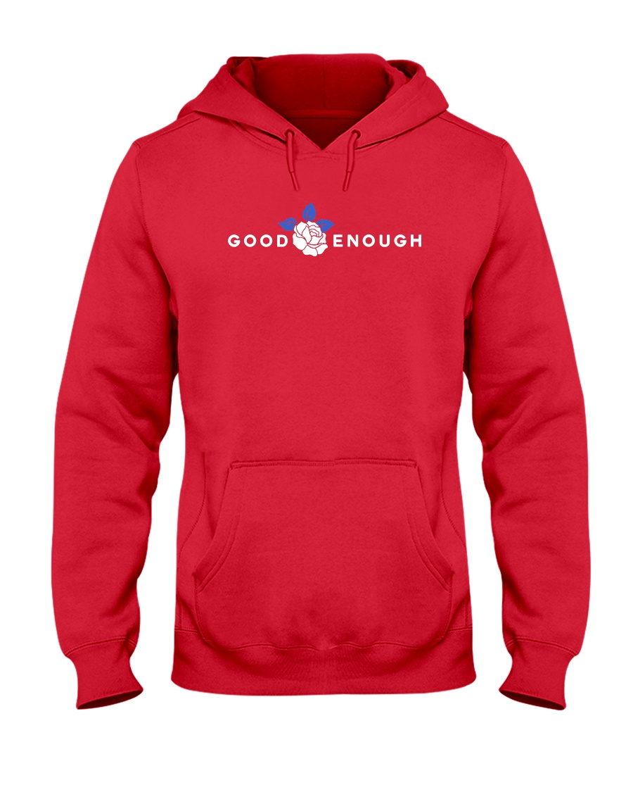GOOD ENOUGH RED SHIRT HOODIE Hooded Sweatshirt