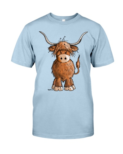 Cute Highland cattle  Cow  Cartoon  Gift Aprons