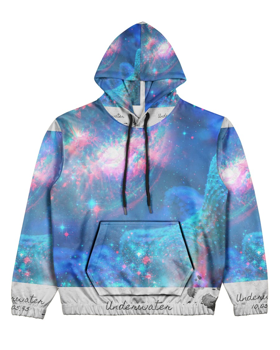 Underwater Sea Creatures Women's All Over Print Hoodie