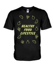 Healthy Food Lifestyle V-Neck T-Shirt thumbnail