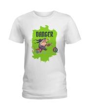 Biker Danger Ladies T-Shirt thumbnail