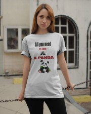 All you need is love and a panda Classic T-Shirt apparel-classic-tshirt-lifestyle-19