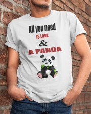 All you need is love and a panda Classic T-Shirt apparel-classic-tshirt-lifestyle-26