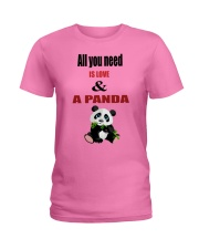 All you need is love and a panda Ladies T-Shirt thumbnail