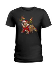 Bulldog Holidays Ladies T-Shirt thumbnail