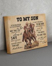 To My Son - Cowboy 14x11 Gallery Wrapped Canvas Prints aos-canvas-pgw-14x11-lifestyle-front-15