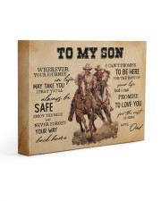 To My Son - Cowboy 14x11 Gallery Wrapped Canvas Prints front