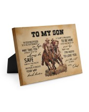 To My Son - Cowboy Easel-Back Gallery Wrapped Canvas tile