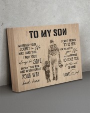 To MY Son Football 14x11 Gallery Wrapped Canvas Prints aos-canvas-pgw-14x11-lifestyle-front-15