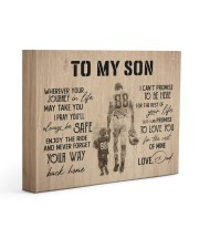 To MY Son Football 14x11 Gallery Wrapped Canvas Prints front