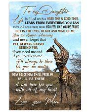 To My Daughter - giraffe Vertical Poster tile