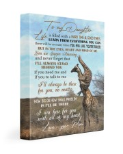 To My Daughter - giraffe Gallery Wrapped Canvas Prints tile